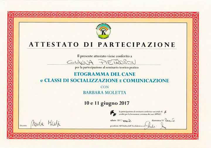educatore-cinofilo-treviso-gianna-pietrobon-attestato-2017-2