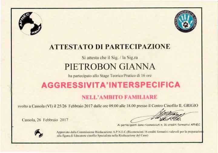 educatore-cinofilo-treviso-gianna-pietrobon-attestato-2017