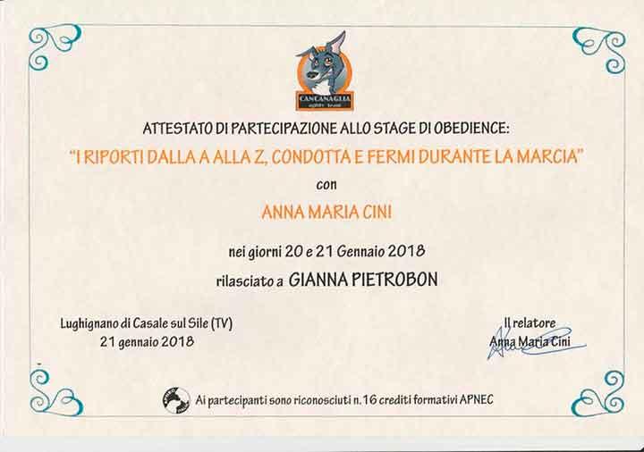 educatore-cinofilo-treviso-gianna-pietrobon-attestato-2018
