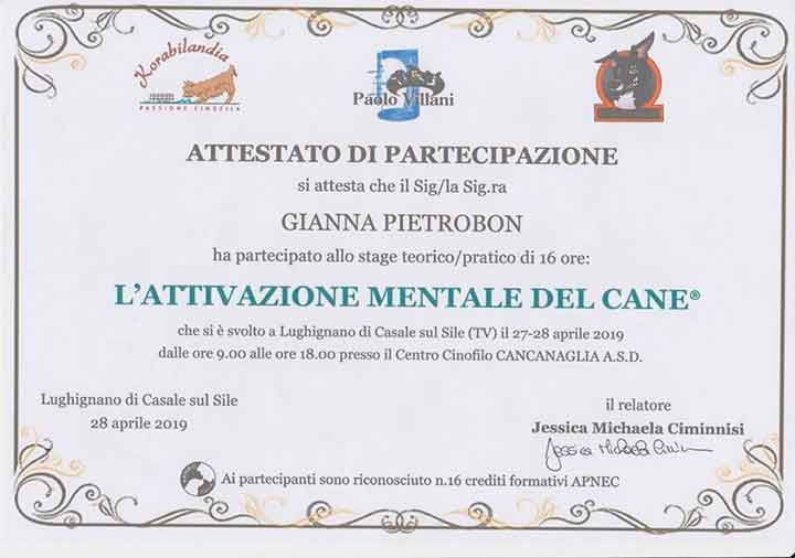 educatore-cinofilo-treviso-gianna-pietrobon-attestato-2019